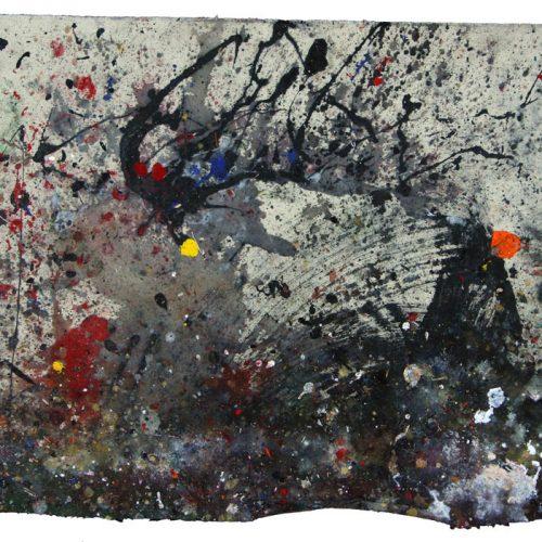 Fossile d'atelier no - Y T - 2556 | huile, acrylique, pastel, collage sur toile | 2013