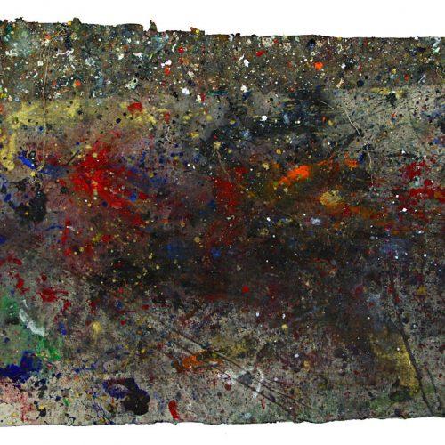 Fossile d'atelier no - Y - 267 | huile, acrylique, pastel, collage sur toile | 2015