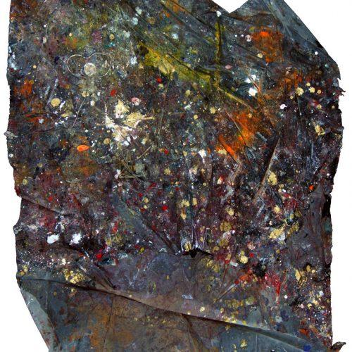 Fossile d'atleire no - U - 2546 | huile, acrylique, pastel, collage sur toile | 2014