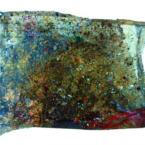 Fossile d'atelier no - S - 367 | huile, acrylique, pastel, collage sur toile | 2015
