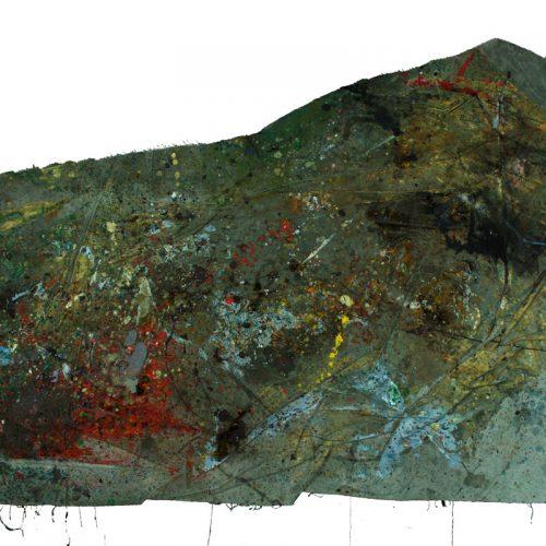Fossile d'atelier no - S – 358 | huile, acrylique, pastel, collage sur toile | 2015
