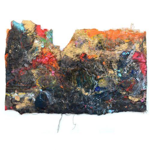 Fossile d'atelier no YR - 876 - | huile, acrylique, pastel, collage sur toile | 2015