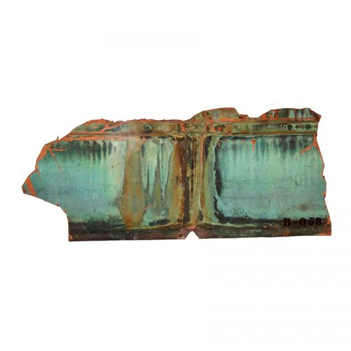 Rivière no B - 058 I dim : 39,64 x 64.98 cm / 16 x 25 in. | cire , huile , crayon | 2014