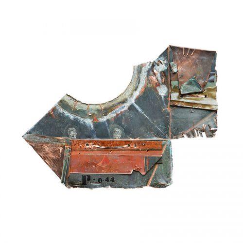 Virtuosité PC - 96 | 56 x 89 cm / 22 x 35 in. | Peinture aérosol, huile , acrylique , crayon cire , sur cuivre recyclé | 2017