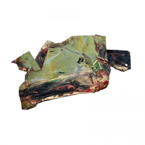 Fragment no P - 97 , cuivre recyclé | crayon , huile , cire | 2014