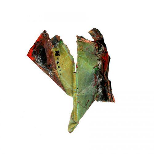 Fragment no M - 433 , cuivre recyclé | crayon , huile , cire | 2014