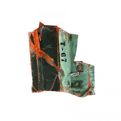 fragment no T-07 , cuivre recyclé | crayon , huile , cire | 2014
