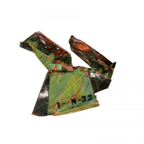 Fragment no IN - 33 , ( l'éventail ) cuivre recyclé | crayon , huile , cire | 2014