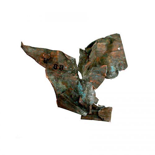 Fragment no W - 88 cuivre recyclé | crayon , huile cire I 2014
