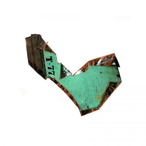 Fragment no T - 77 cuivre recyclé | crayon huile cire | 2014