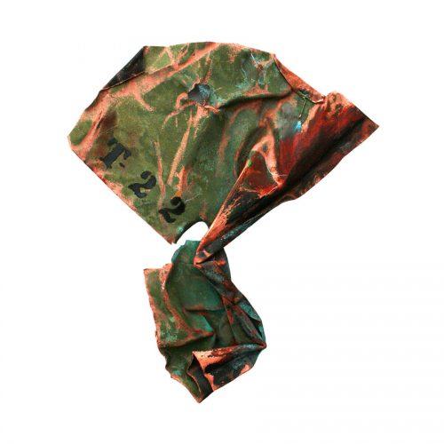 Fragment no T - 22 ( Offrande ) cuivre recyclé | crayon , huile , cire | 2014