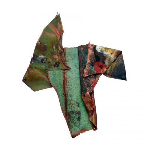 Fragment no C - 09 , I cuivre recyclé I Crayon , huile , cire I 2014