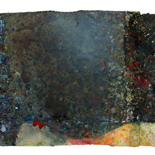 Tarmac d 'atelier M-268-900 | huile, acrylique, pastel, collage sur toile | 2009
