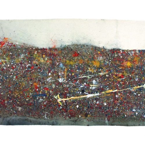 Tarmac d 'atelier no - 012 | huile, acrylique, pastel, collage sur toile | 2009