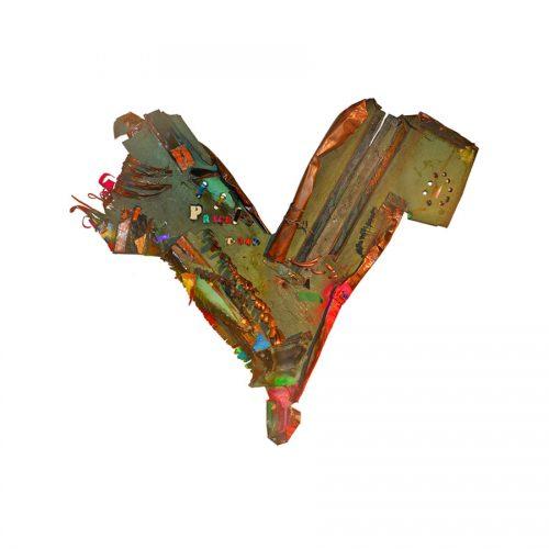 Fragment de Price no T - 240 | cuivre recyclé, intégration de peinture industrielle, acrylique, huile, pigment crayon, aérosol / mixte media on copper | 2017