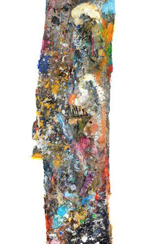 Souvenir d'atelier no A-16 | huile, acrylique, pastel, collage sur toile | 2015