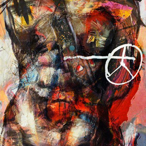 Hommage - Corno No - E - 2   48 x 60 in. / 102 x 152 cm   Technique : Acrylique , huile , crayon pastel , crayon graphite sur toile   2017