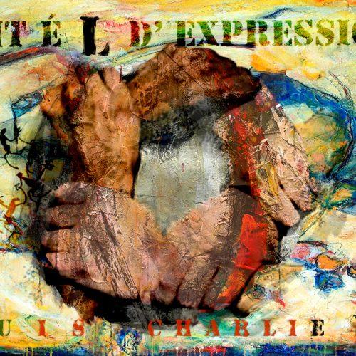 Unité d 'expression | 36 x 48 in / 92 x 122 cm | Technique : Acrylique , huile , crayon pastel , crayon graphite sur toile | 2015