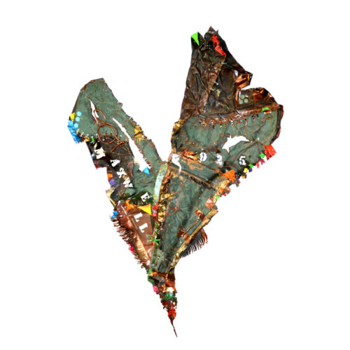 MAXWELL NO - 925 | cuivre recyclé, intégration de peinture industrielle, acrylique, huile, pigment crayon, aérosol / mixte media on copper | 2019